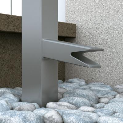 Säule mit Wasserablauf unten
